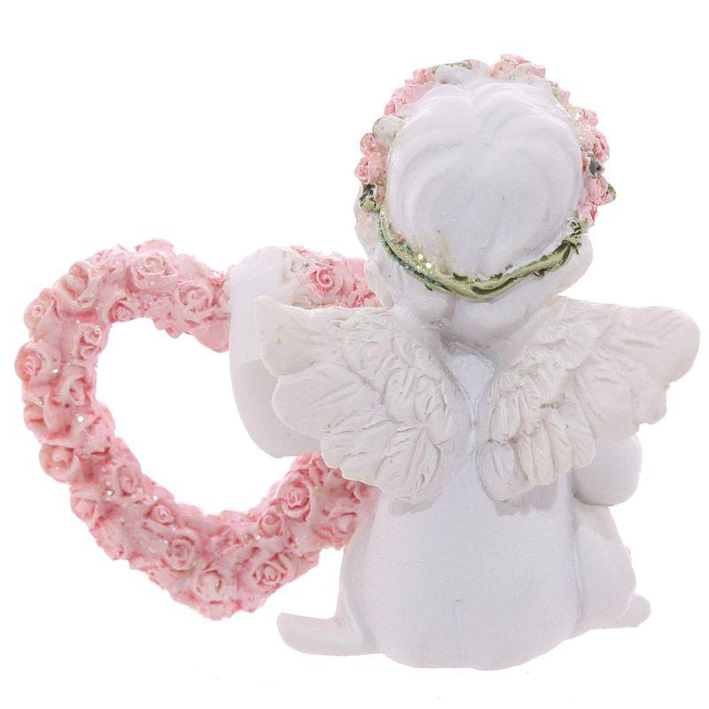 engel mit pink rose herz
