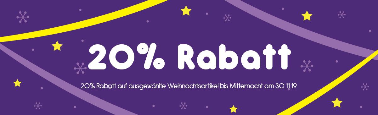 -20% Rabatt auf Weihnachtsartikel!