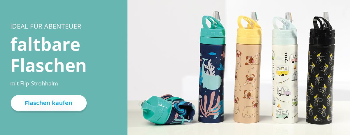 ausklappbare Wasserflaschen