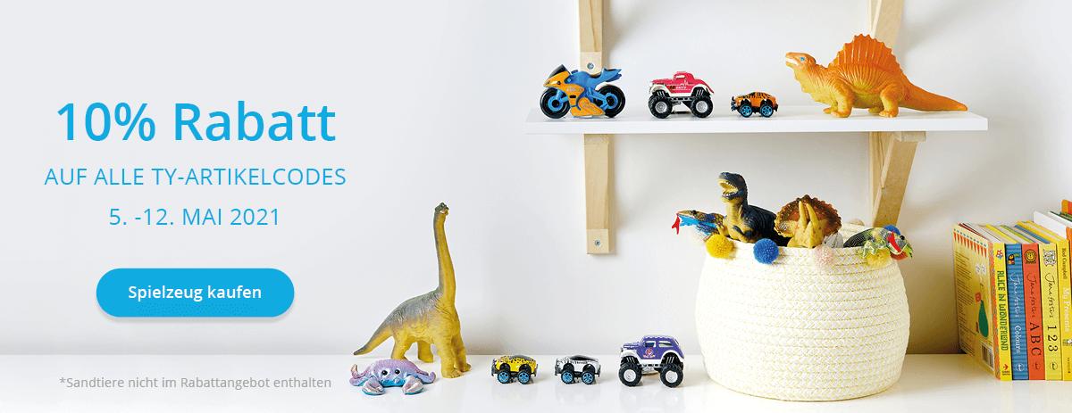 10% Rabatt auf Spielzeuge!
